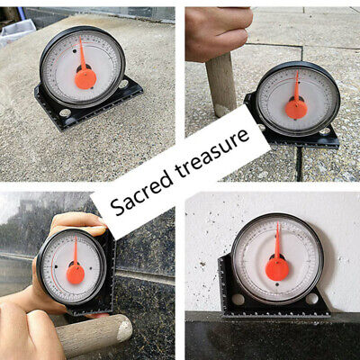 Slope Inclinometer Level Angle Finder Measuring Gauging Tools Magnetic Base Home