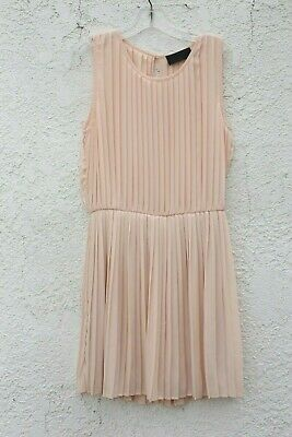543010cd18 152usd NWOT Blaque Label New Pleated Tank Dress Pink M Medium lined prom  spring