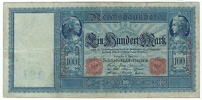 P42 1910 Germany 100 mark note (world/lot) Combined Shipping WO