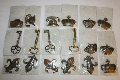 18 pc lot~HEAVY Bronze Color Metal Trinket~Embellishment~Camera~Key~Phone~Crown