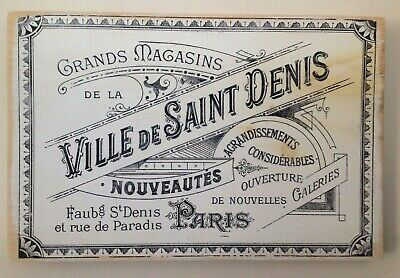 """Vintage French Ad"" Wood Sign, Handmade White Distressed Farmhouse, Indoor Decor"