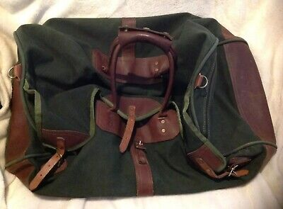 3dd9786f8 Vintage GOKEYS ORVIS Canvas & Leather Hunting/Travel Duffle Bag Battenkill 4