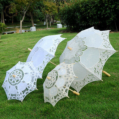 Vintage Handmade Parasol Wedding Bridal Decor Umbrella Retro Photography Prop