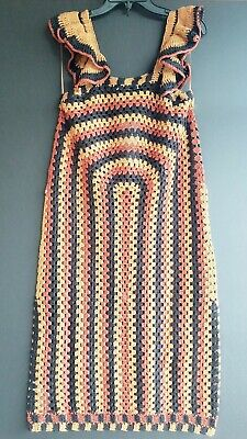 c7733be3 NEW ZARA MULTI Color Crochet Shift Dress Small - $59.00 | PicClick