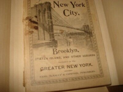 Rand McNally & Co's Handy Guide to New York City1895 Brooklyn Staten Island