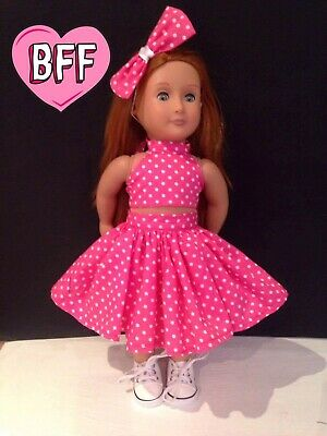 """18"""" Dolls clothes for Our Generation,  Dolls Dress Handmade Dolls Outfit."""