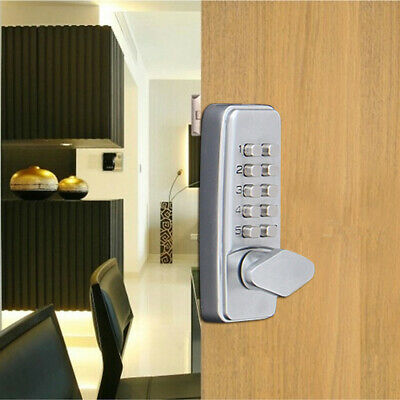 GOLD DIGITAL MECHANICAL Door Lock Code Push Button Keyless Oval Knob