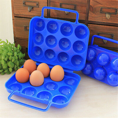 Outdoor Portable EGG storage Container 6/12 Egg Case Holder Keep Home Camping