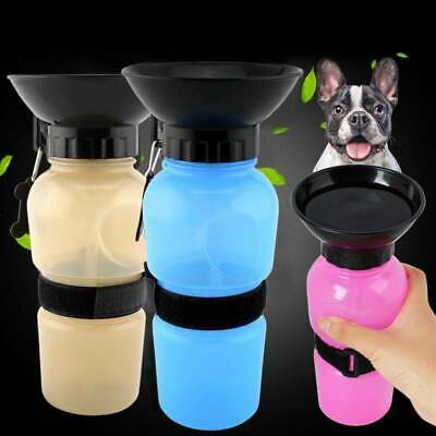 Dog Puppy Drinking Cup Water Bottle Travel Outdoor Portable Feeder Pet Supply