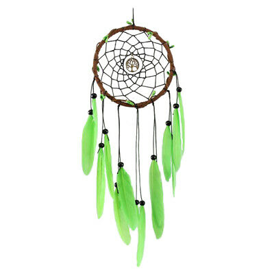 Handmade Green Feather Dreamcatcher Wedding Party Room Decoration Adornment