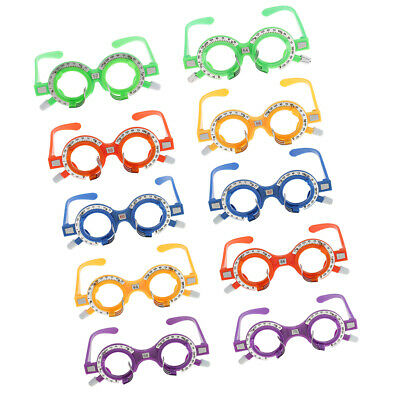 New Optical Optic Trial Lens Frame Optometry Trial Frame Eye Optician 10pcs