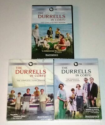 Masterpiece: THE DURRELLS IN CORFU: COMPLETE DVD TV SERIES SEASONS 1-3 NEW