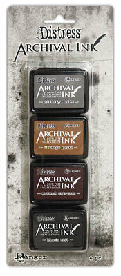 Ranger Tim Holtz Distress Archival Ink pad Kit 3, Inks 4 pack, Stamping, Stamps