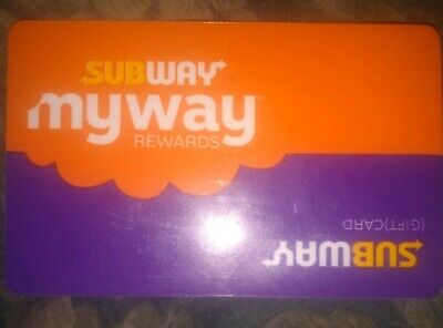 Subway Used Collectible Gift Card Orange/Purple NO VALUE