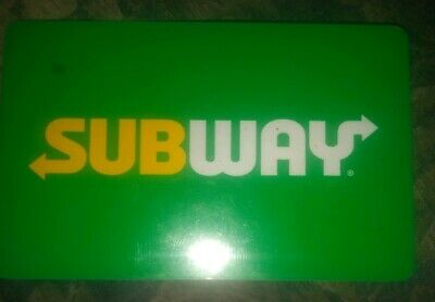 Subway Used Collectible Logo w/Green Background Gift Card NO VALUE