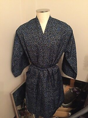 Vintage Marks & Spencer Paisley Dressing Gown (Size Medium)