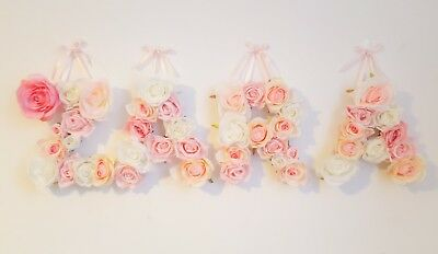 Baby Shower Christening Childrens Room Home Luxury Flower Letter Nursery Decor