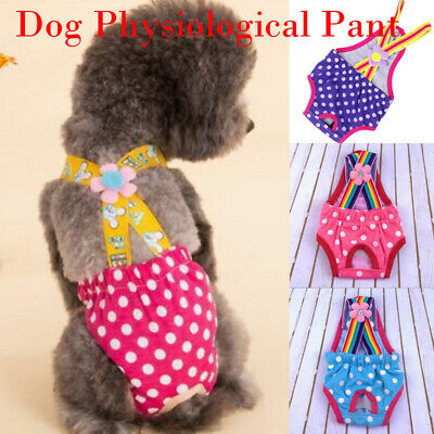 Pet Dog Puppy Diaper Pants Physiological Sanitary Cartoon Short Panty Underwear