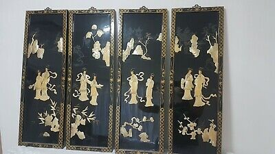 Vintage Chinese/Asian Shell Wall Inlay. Asian Wall Art, Home Decor