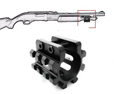 "Tactical 12GA 1"" Shotgun Mag Tube Rail Picatinny Mount& QD Sling Rail Base Mount"
