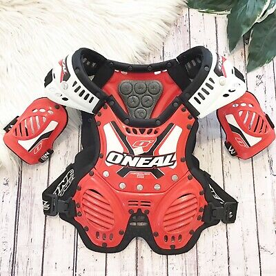 Oneal Rokblok 2 Body Armour Red Black White Chest Protection