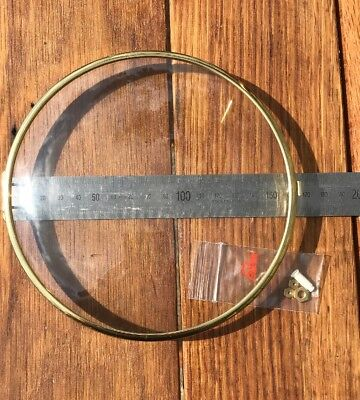 Domed clock dial glass, diameter 155mm, dome approx. 20mm