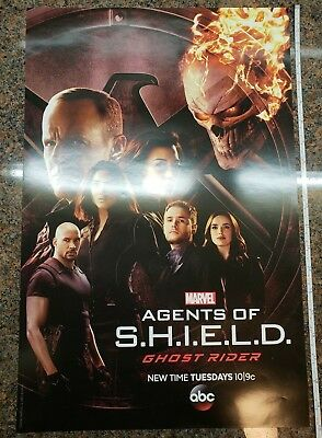 Marvel Agents of Shield Ghost Rider Poster TV Show New York Comic Con 2016