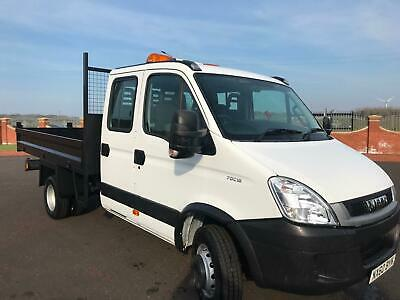 2010 60 IVECO DAILY 70C18 3.0 CREW CAB TIPPER 12ft BODY