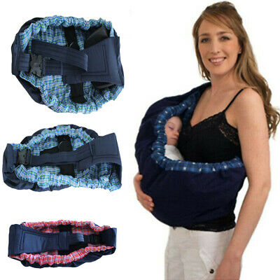 USA Newborn Baby Sling Carrier Ring Wrap Adjustable Nursing Pouch Front Infant