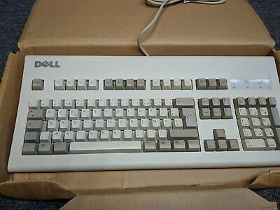 NEW IN BOX Dell AT102W beige vintage mechanical keyboard FRENCH AZERTY layout