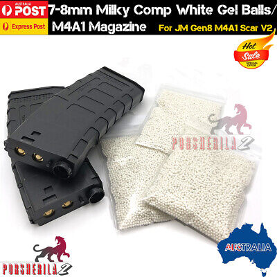 7-8mm Hardened Gel Balls Gen8 Magazine For Jinming Gen8 M4A1 SCAR V2 Gel Blaster