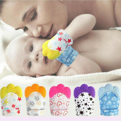 Baby Silicone Mitts Teething Mitten Teething Molar Glove Wrapper Soft Teether