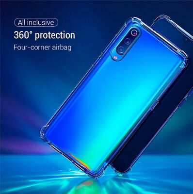 For Samsung Galaxy A70 A50 A40 Shockproof Clear TPU Bumper Silicone Case Cover