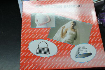 40mtr x 8mm white easy to sew Nortex Polyester Boning