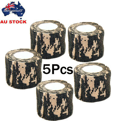 5Pcs Self-adhesive Non-woven Camouflage ACU Camo Wrap For Hunting Camo Tape AU