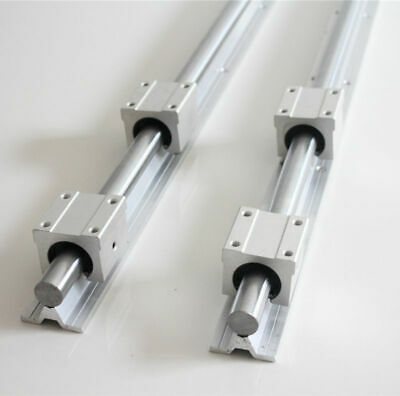 2 pcs SBR25 500mm/1200mm Linear Rail Shaft Rod + 4 pcs SBR25UU Block Bearing