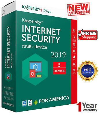 KASPERSKY INTERNET Security - 2019 / 3 Devices /1 Year/ Region - AMERICA  12.25$