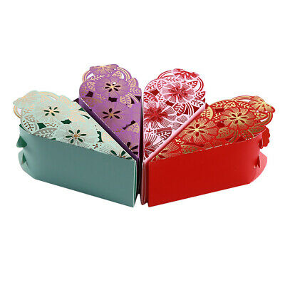 Candy Box Love Heart Laser Cut Hollow Gifts Candy Boxes Baby Shower Gifts LH