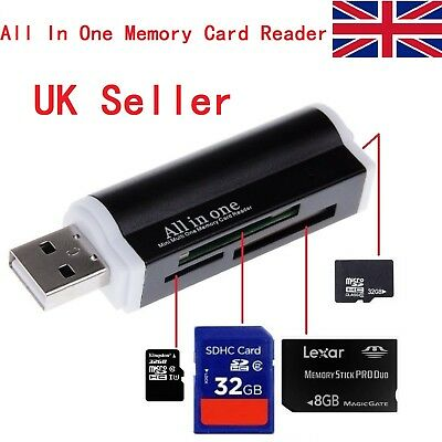 All in One all in 1 USB Memory Card Reader Adapter for Micro SD MMC SDHC M2 UK