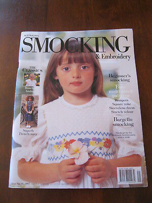 Australian Smocking: Issue no. 41: 1997 : Pattern sheet Attached. :Preloved