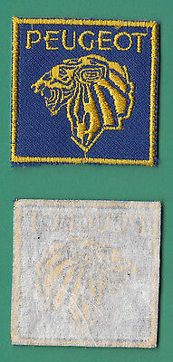 insigne tissu badge patch brodé automobile moto cycle huile PEUGEOT