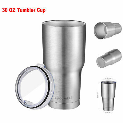 Stainless Steel Coffee Cup Travel Mug 30OZ Vacuum Insulated Rambler Tumbler Lid