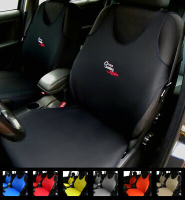 2 Black Car Seat Covers For Jaguar Xf Xe Sportbrake F-Type Ftype F-Pace X-Type