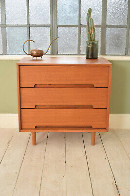 Mid Century Tallboy Stag Vintage Chest Of Drawers CAN DELIVER