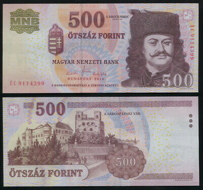HUNGARY BANKNOTE 500 FORINT - P.196c 2010 UNC