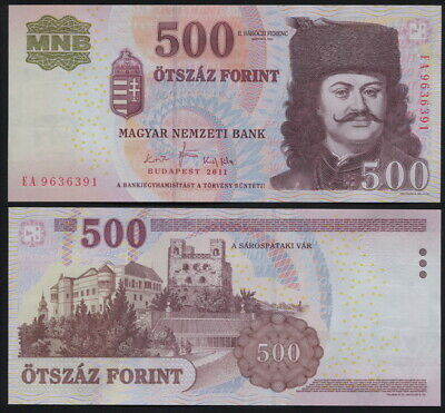 HUNGARY BANKNOTE 500 FORINT - P.196d 2011 UNC