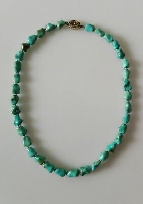 Vecchia collana cinese in turchese naturale Antique chinese turquoise necklace