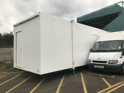 32ft White Portakabin, Portable Office, Jack Leg, in Good Condition