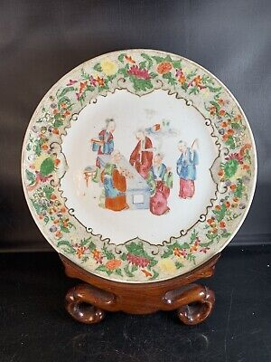 Antique Chinese Canton Porcelain Plate 19th Century
