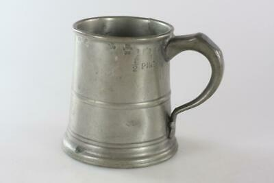 ANTIQUE 18th Century SMALL PEWTER MUG Marked